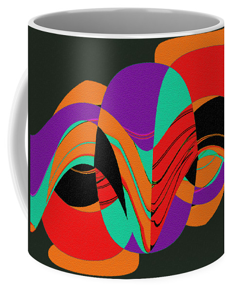 Modern Art 2 Coffee Mug featuring the painting Modern Art 2 by Methune Hively