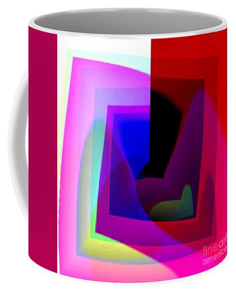 Abstract Coffee Mug featuring the digital art Modern Art by Yali Shi