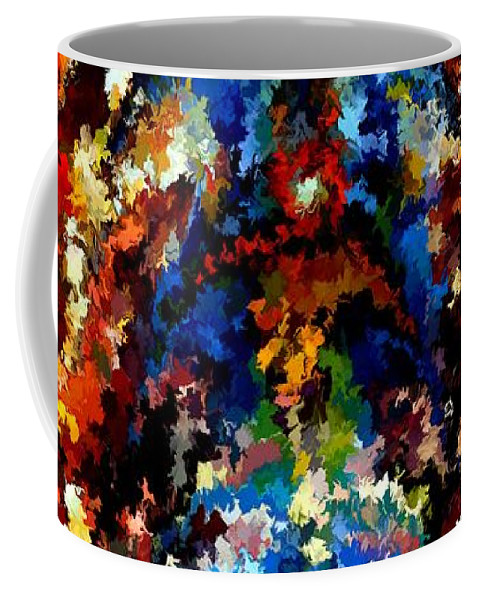 Contemporary Coffee Mug featuring the painting Modern Composition 13 by Rafi Talby