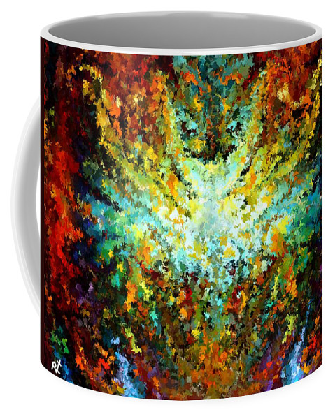 Contemporary Coffee Mug featuring the painting Modern Composition 16 by Rafi Talby