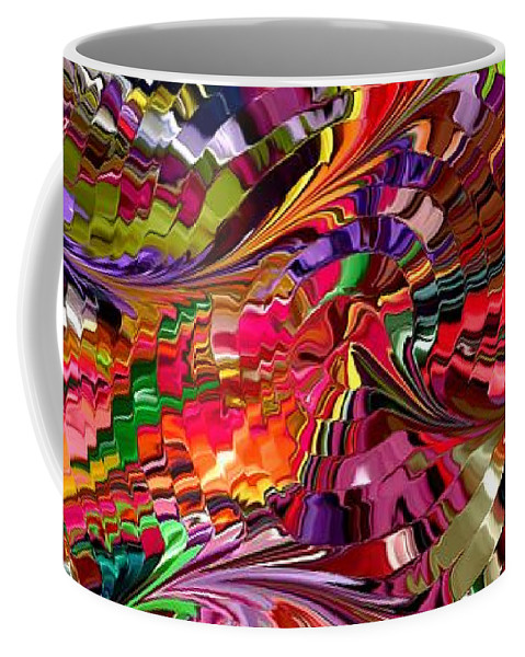 Contemporary Coffee Mug featuring the painting Modern Composition 34 by Rafi Talby