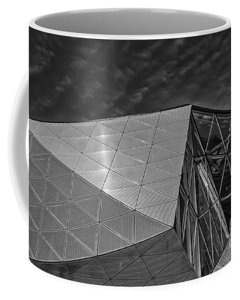 Architecture Coffee Mug featuring the photograph Modern Detail Mono by Antony McAulay