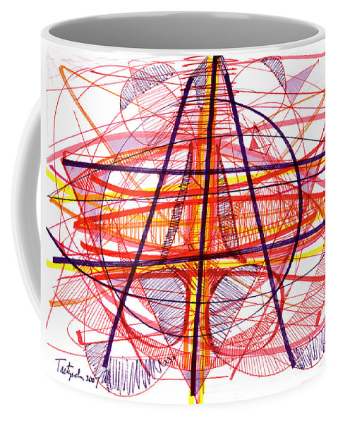 Modern Drawing Coffee Mug featuring the drawing Modern Drawing Eighty-five by Lynne Taetzsch