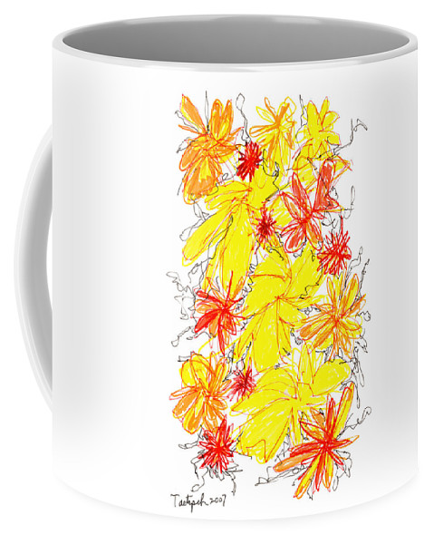 Modern Art Coffee Mug featuring the drawing Modern Drawing Fifty-five by Lynne Taetzsch