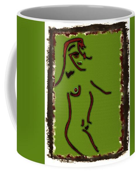 Modern Coffee Mug featuring the digital art Modern Eygptian by Donna Blackhall
