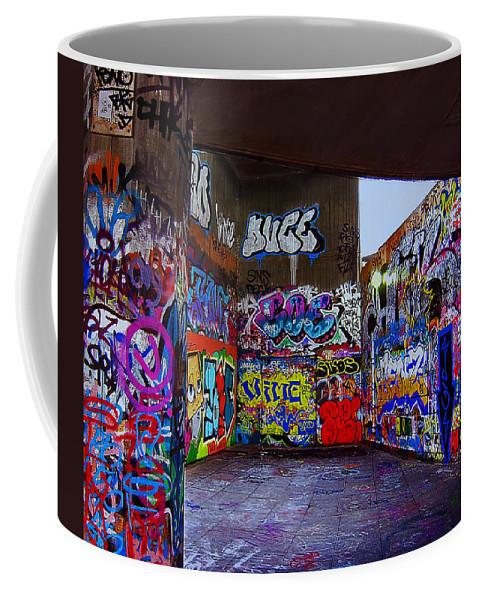 Graffiti Coffee Mug featuring the photograph Modern Hieroglyphics by Madeline Ellis