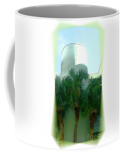 Hotel Coffee Mug featuring the photograph Modern Hotel Of Old Florida by Barbie Corbett-Newmin