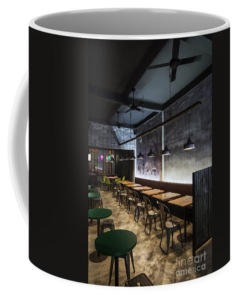 Architecture Coffee Mug featuring the photograph Modern Industrial Contemporary Interior Design Restaurant by Jacek Malipan