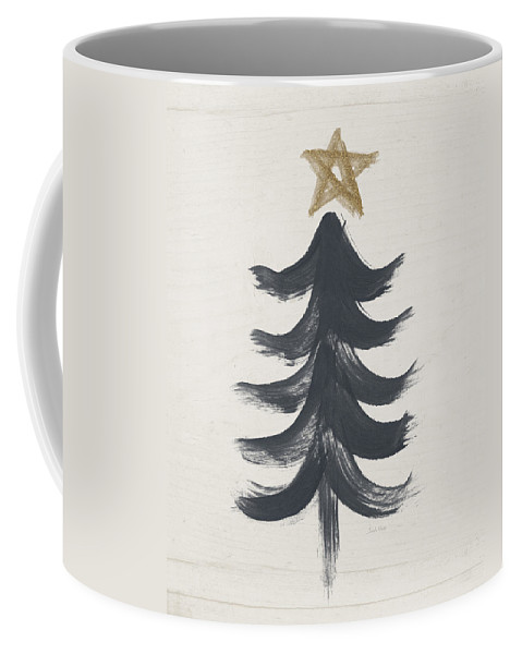 Modern Primitive Black And Gold Tree 1- Art By Linda Woods Coffee Mug