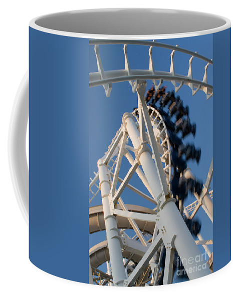Fun Coffee Mug featuring the photograph Modern Roller Coaster by Anthony Totah