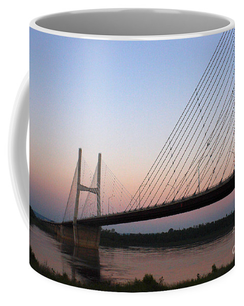 Architecture Coffee Mug featuring the photograph Modified Suspension by Alan Look