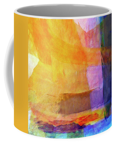Abstract Coffee Mug featuring the painting Mohave by Dominic Piperata