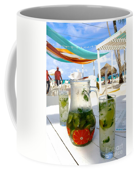 Mojitos Coffee Mug featuring the photograph Mojitos On The Beach- Punta Cana by Jill King