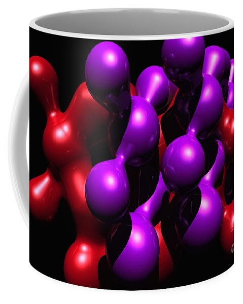 Abstract Coffee Mug featuring the digital art Molecular Abstract by David Lane