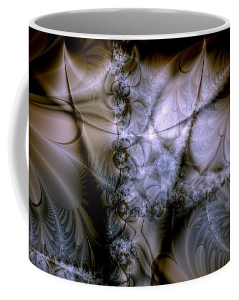 Chocolate Coffee Mug featuring the digital art Molecular Cacao by Casey Kotas