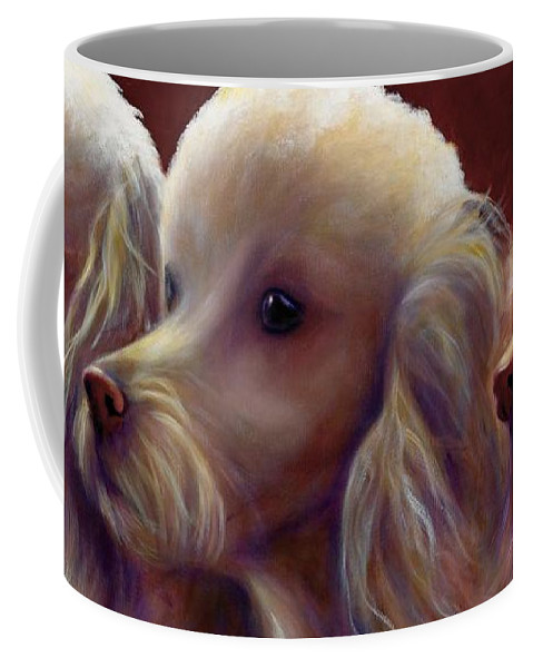 Dogs Coffee Mug featuring the painting Molly Charlie and Abby by Shannon Grissom