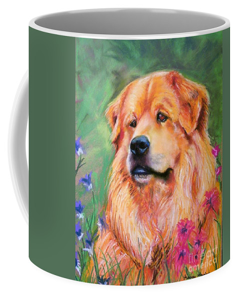 Chow Coffee Mug featuring the painting Molly by Frances Marino