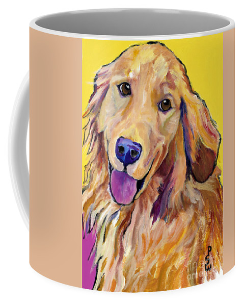 Acrylic Paintings Coffee Mug featuring the painting Molly by Pat Saunders-White