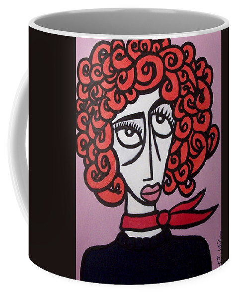 Portaits Coffee Mug featuring the painting Molly by Thomas Valentine
