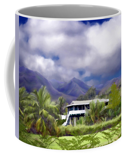Hawaii Coffee Mug featuring the photograph Moloa A Bay Hideaway by Kurt Van Wagner