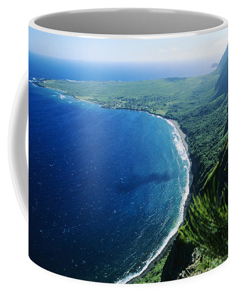 Above Coffee Mug featuring the photograph Molokai, View by Ali ONeal - Printscapes