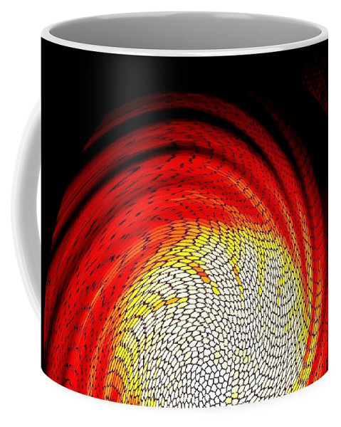 Abstract Coffee Mug featuring the digital art Molten Honeycomb by Will Borden