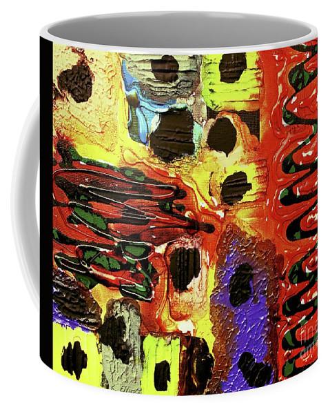 Keith Elliott Coffee Mug featuring the painting Mom, I Got Sick - V1cfs100 by Keith Elliott