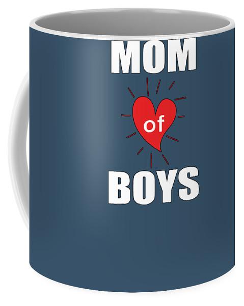 Boys Coffee Mug featuring the digital art Mom Of Boys by Trisha Vroom