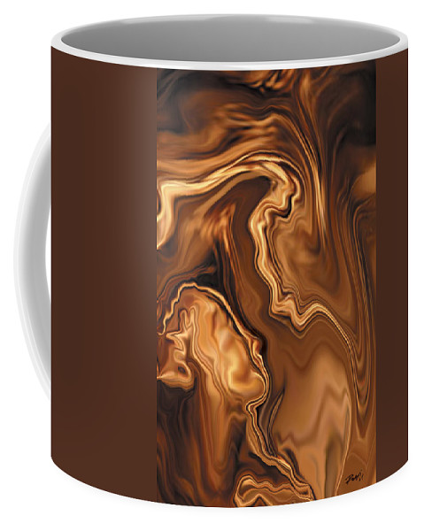 Abstract Adam Art Blue Brown Copper Digital Eve Figurative Khan Kiss Love Night Passion Rabi_khan Se Coffee Mug featuring the digital art Moment Before The Kiss by Rabi Khan