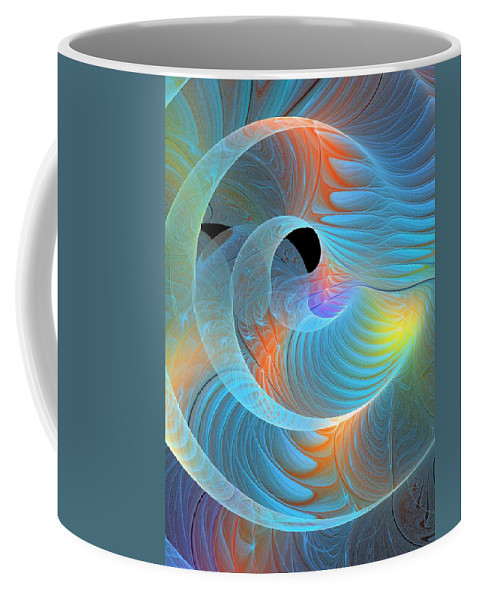 Digital Art Coffee Mug featuring the digital art Moment Of Elation by Amanda Moore