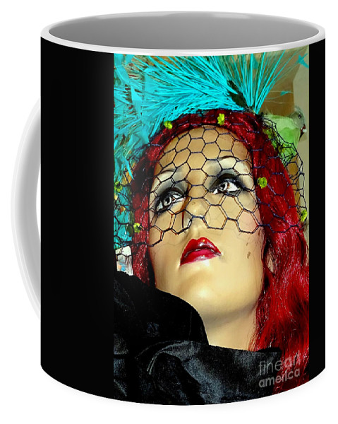 Mannequins Coffee Mug featuring the photograph Mona In Mourning by Ed Weidman