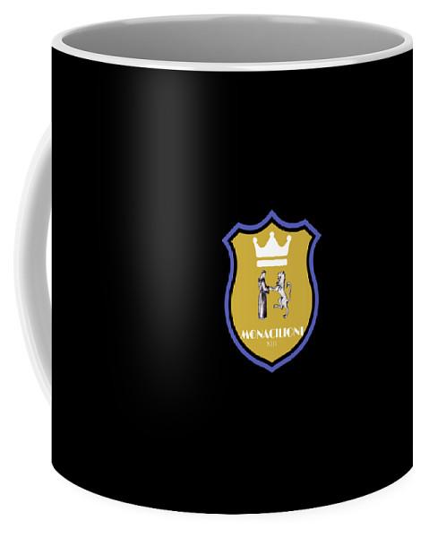 Coffee Mug featuring the tapestry - textile Monacilioni Yellow Crown by Gino Martino