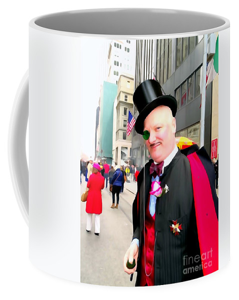 Digital Art Coffee Mug featuring the photograph Monacled And Majestic by Ed Weidman
