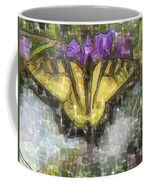 Butterfly Coffee Mug featuring the digital art Monarch by Ches Black