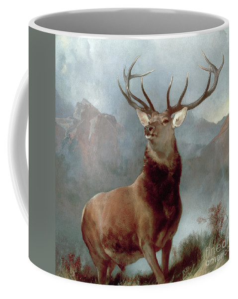 Monarch Coffee Mug featuring the painting Monarch Of The Glen by Sir Edwin Landseer