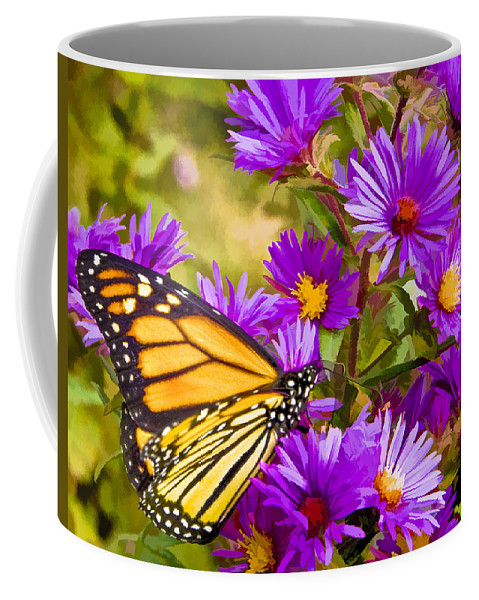 Butterfly Coffee Mug featuring the digital art Monarch On Mt. Washington by Ches Black