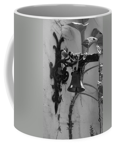 Black And White Coffee Mug featuring the photograph Monastery Bell by Rob Hans