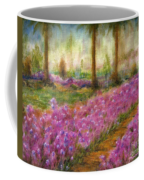 Monet Coffee Mug featuring the painting Monet's Garden in Cannes by Jerome Stumphauzer