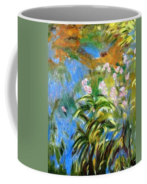Monet Coffee Mug featuring the painting Monet's Irises by Jamie Frier