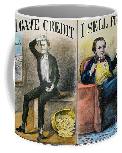 Coffee Mug featuring the painting Money Lending, 1870 by Granger