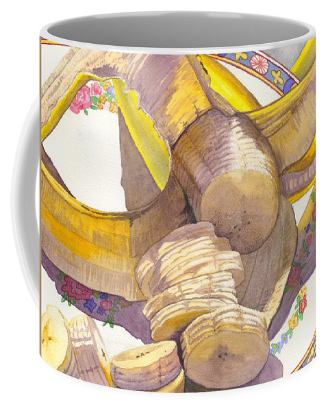 Banana Coffee Mug featuring the painting Monkey Bait by Catherine G McElroy