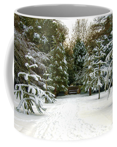 Winter Coffee Mug featuring the photograph Monkey Trees by Svetlana Sewell