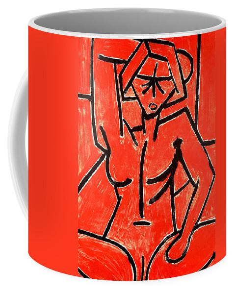 Clay Coffee Mug featuring the painting Mono 2 by Thomas Valentine