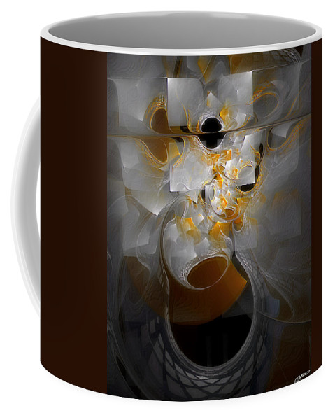 Abstract Coffee Mug featuring the digital art Monolith And Friends by Casey Kotas