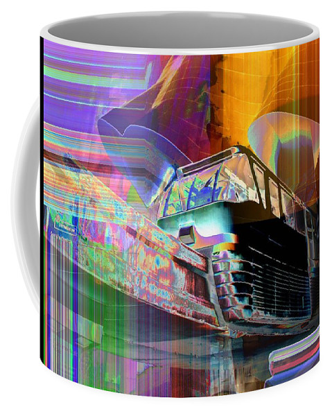 Seattle Coffee Mug featuring the digital art Monorail And Emp by Tim Allen
