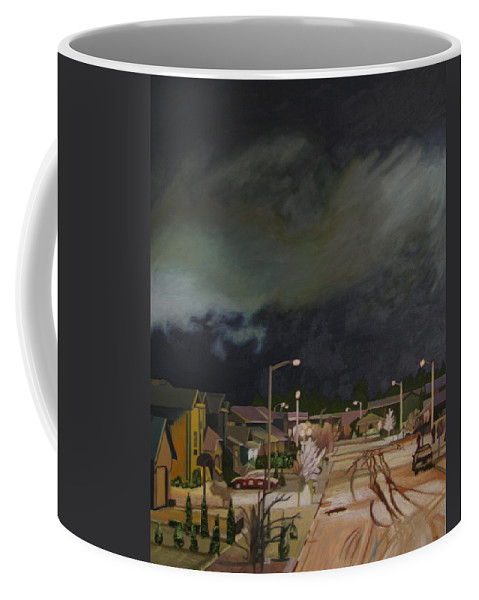 Landscape Coffee Mug featuring the painting Monroe Winter 97 by Thu Nguyen