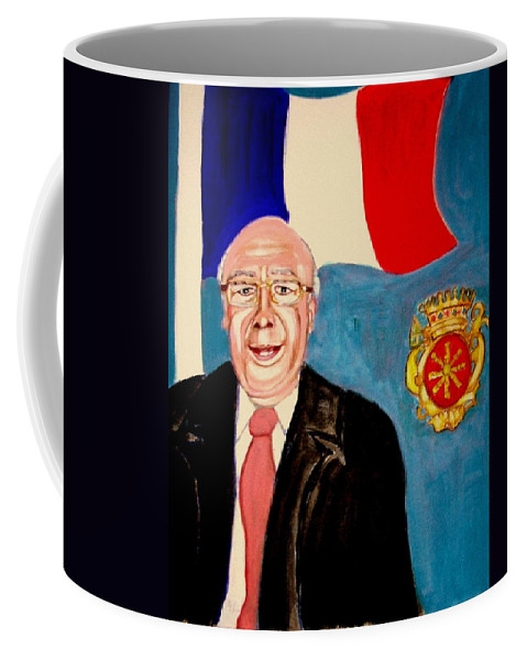 Agincourt Coffee Mug featuring the painting Monsieur Jean Claude Darque. Le Maire De Auchy Les Hesdin by Rusty Gladdish