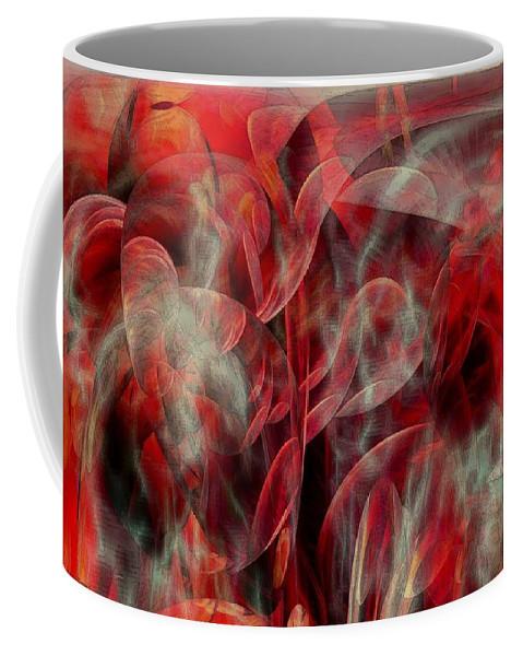 Abstarct Art Coffee Mug featuring the digital art Monster Wars by Linda Sannuti