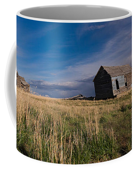 Plains Coffee Mug featuring the photograph Montana Prairie Homestead by Ward Thurman