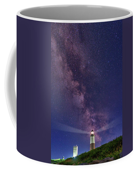Montauk Coffee Mug featuring the photograph Montauk Point And The Milky Way by Rick Berk